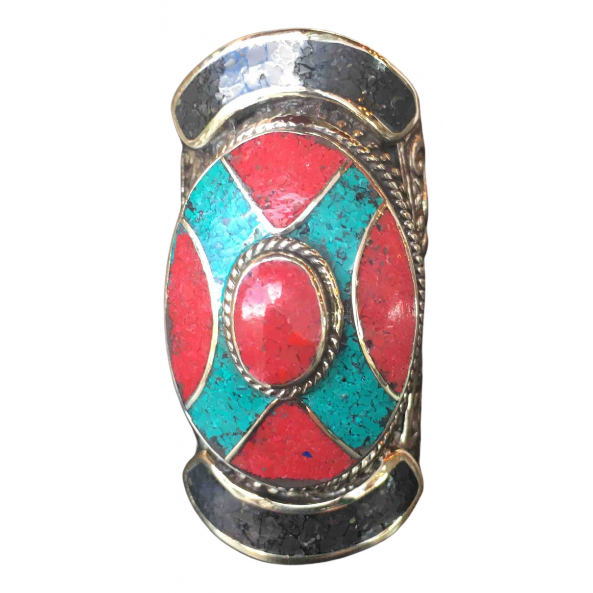 - Bague Motifs Ethniques pour femme en metal - turquoise