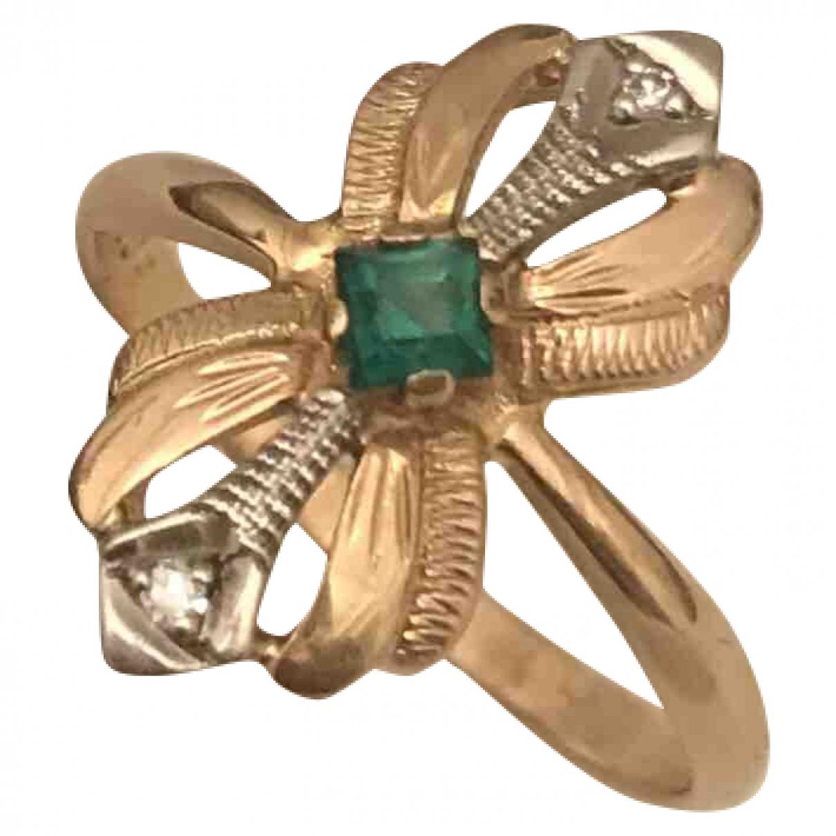 - Bague Art Deco pour femme en or jaune - dore