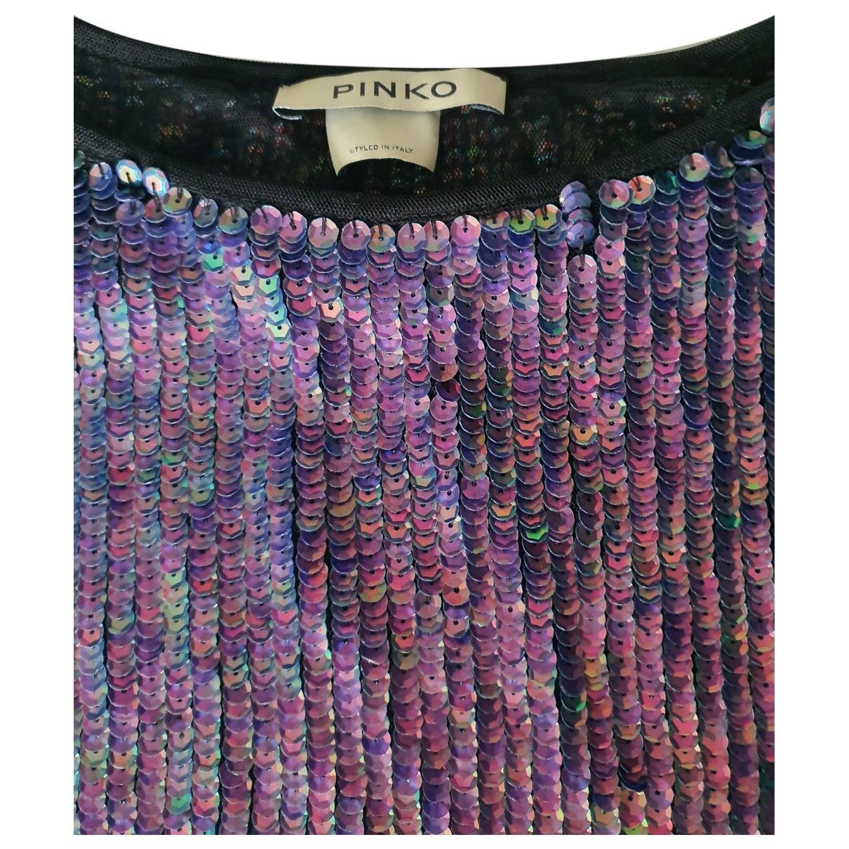 Pinko - Top   pour femme en a paillettes - metallise