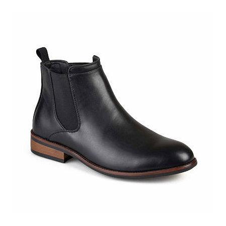 Vance Co Mens Landon Chelsea Chelsea Boots, 8 Medium, Black