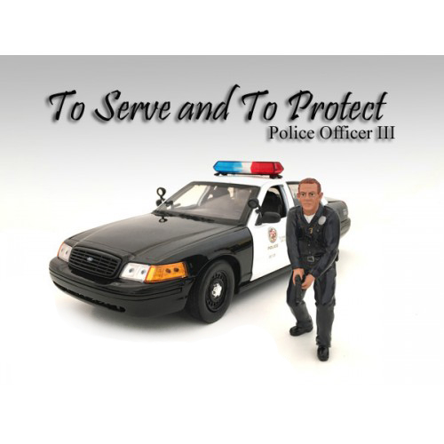 Police Officer III Figure For 118 Scale Models by American Diorama