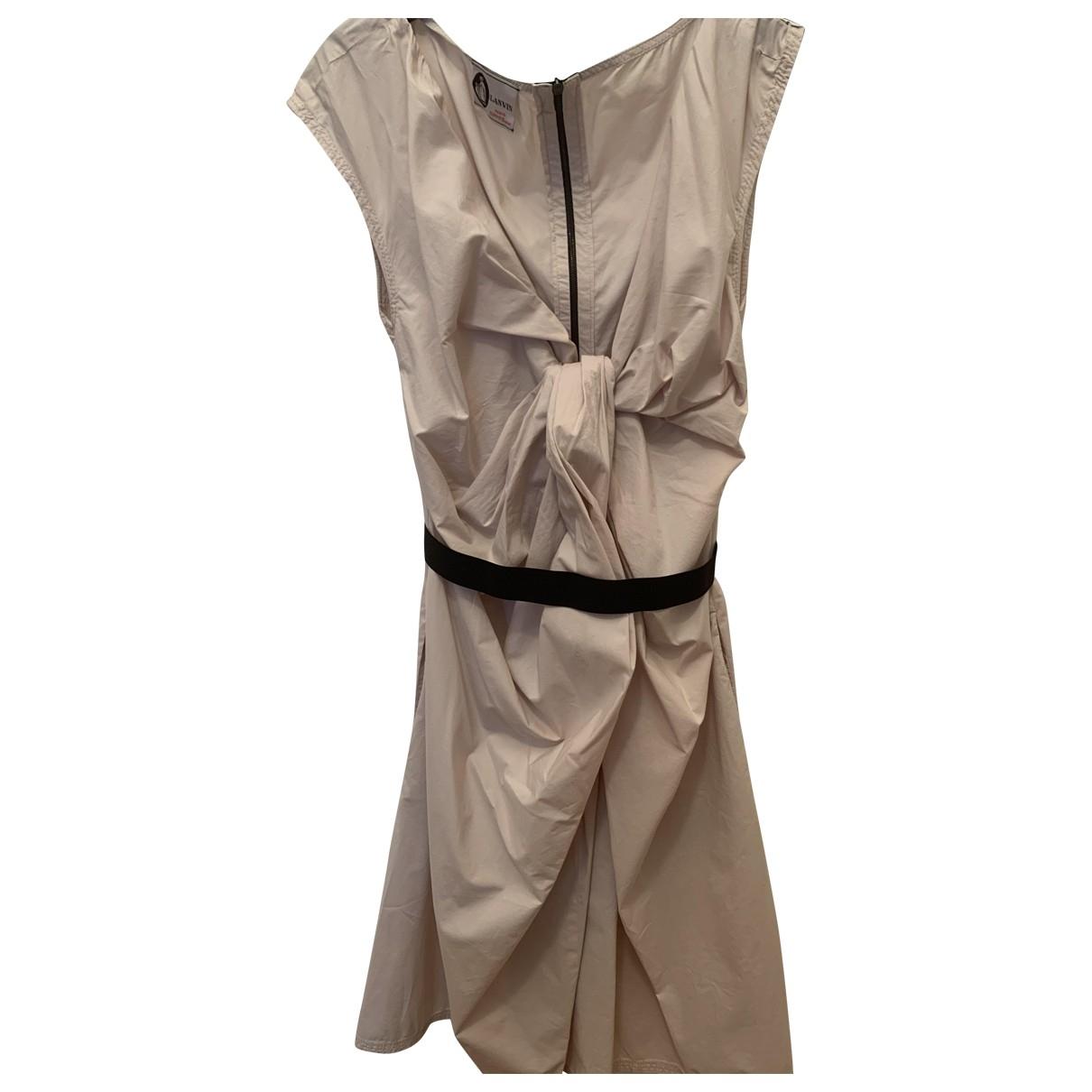 Lanvin \N Ecru Cotton dress for Women 38 FR