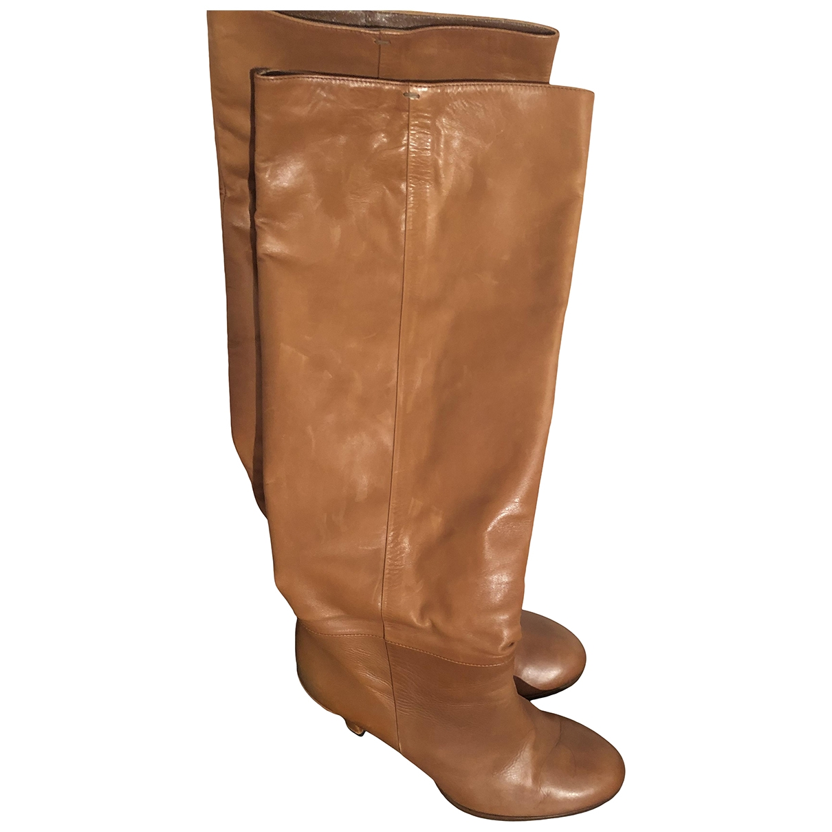 Gucci \N Camel Leather Boots for Women 40 EU