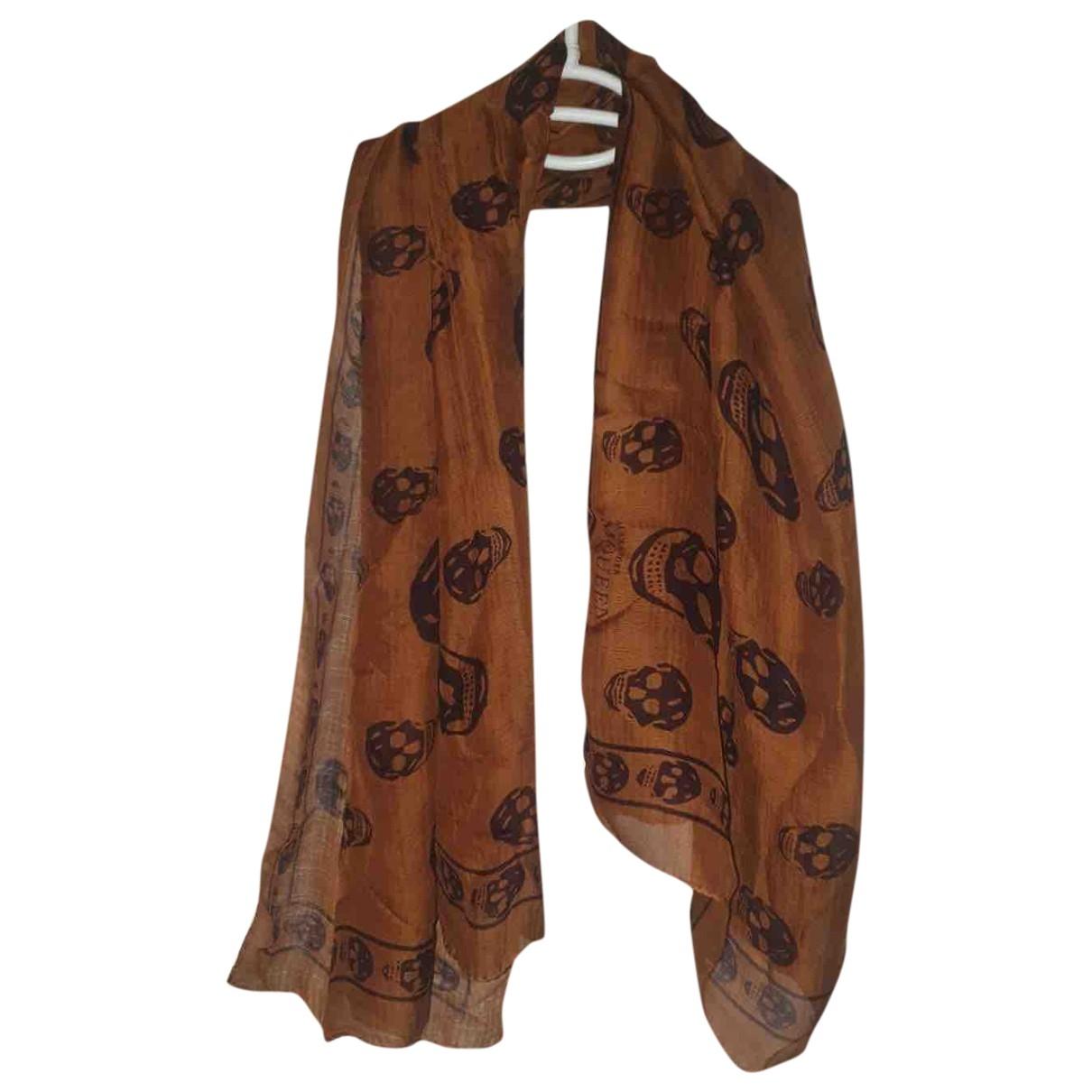 Alexander Mcqueen \N Brown Silk Silk handkerchief for Women \N