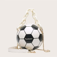 Football Shaped Satchel Bag