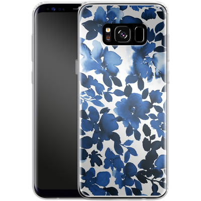 Samsung Galaxy S8 Silikon Handyhuelle - Sophia Blue Floral von Amy Sia