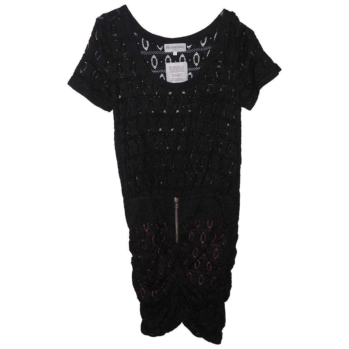 Heimstone \N Kleid in  Schwarz Polyester