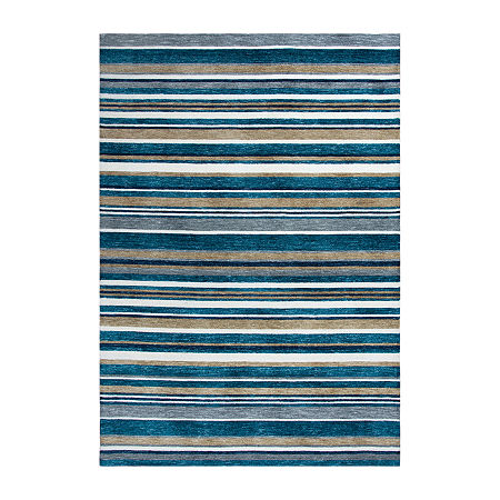 Rizzy Home Zayne Hand Tufted Rectangular Indoor/Outdoor Rugs, One Size , Blue