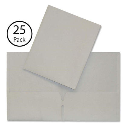 Hilroy@ Twin-Pocket Portfolio, 25 covers per pack - Grey