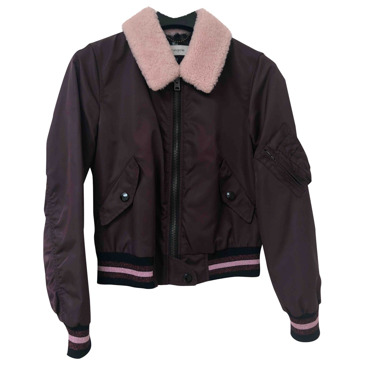 Coach \N Burgundy jacket for Women 2 US