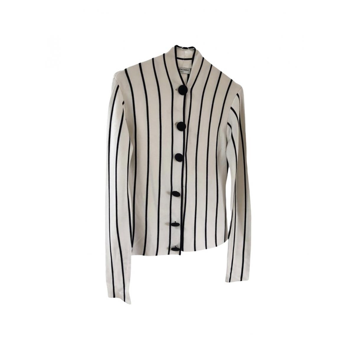 Balenciaga \N White Silk  top for Women 36 FR