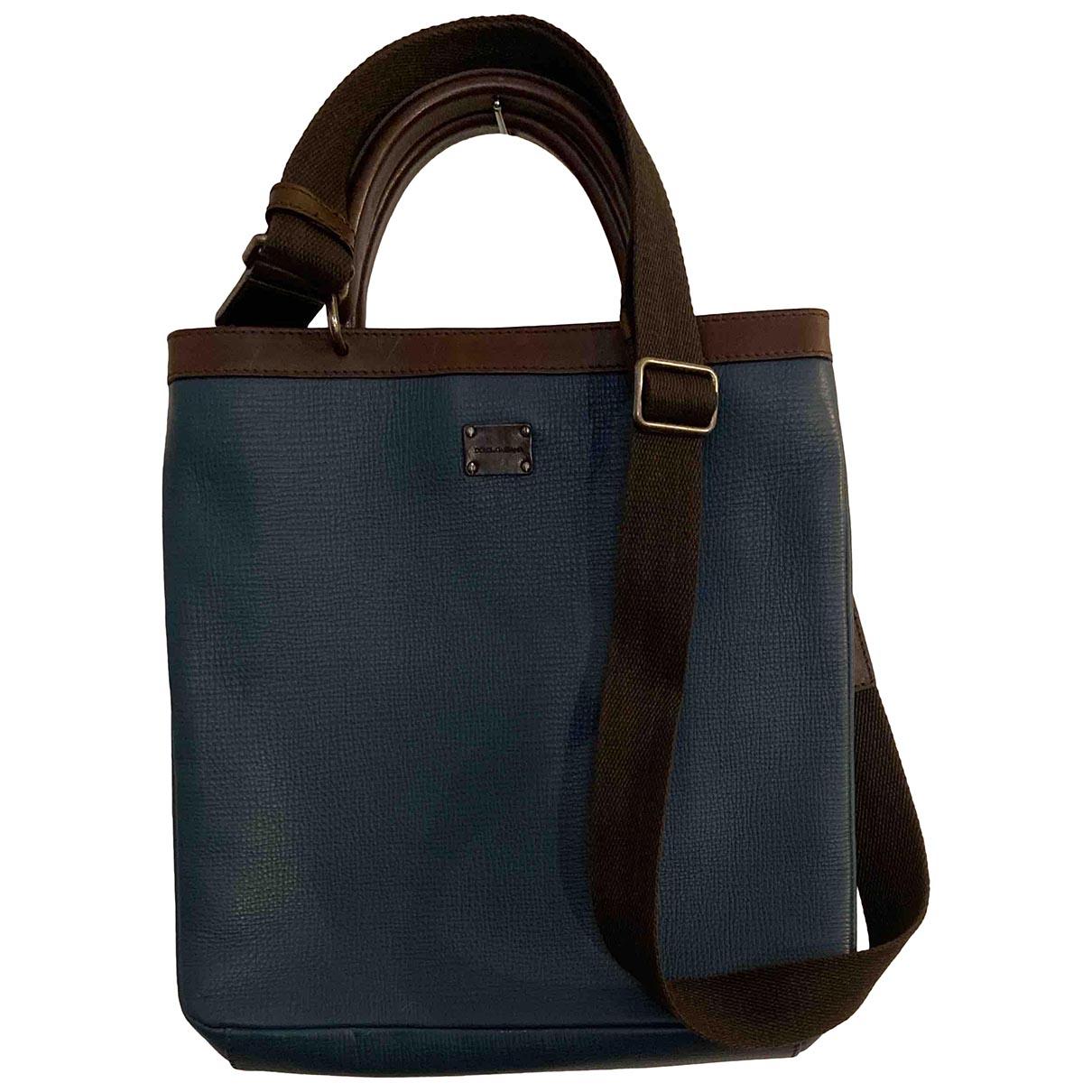 Dolce & Gabbana \N Blue Leather bag for Men \N