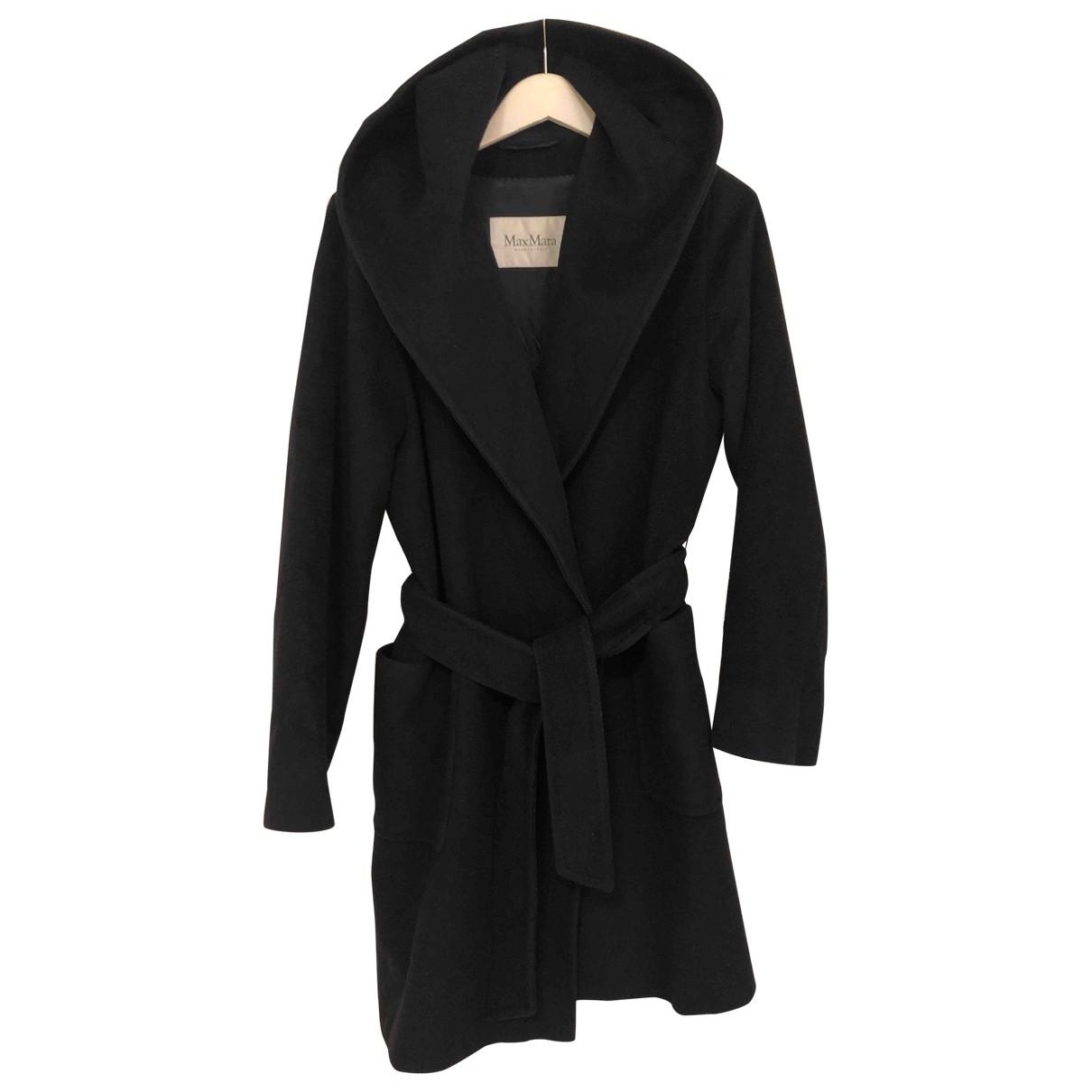 Max Mara - Manteau   pour femme en laine - marine