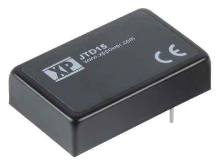 XP Power JTD15 15W Isolated DC-DC Converter Through Hole, Voltage in 18 → 75 V dc, Voltage out 3.3V dc