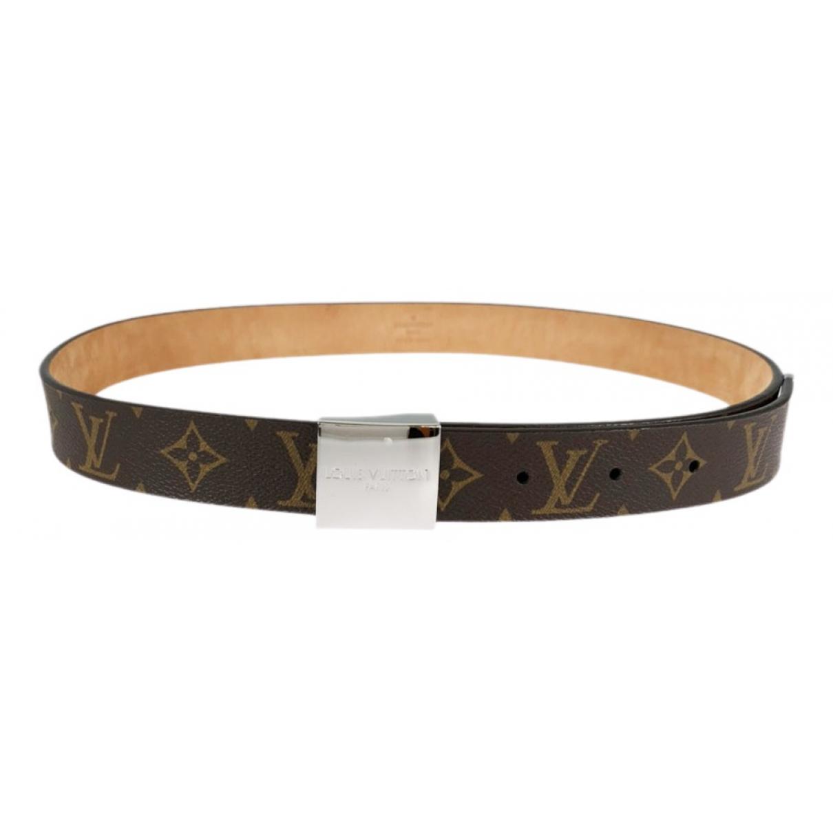 Louis Vuitton \N Brown Cloth belt for Men 85 cm