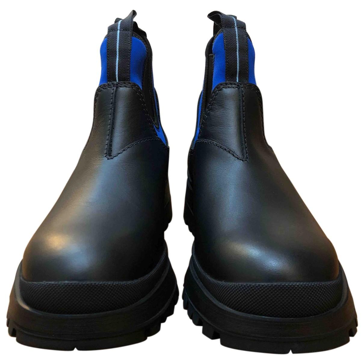 Prada Brixxen Stiefel in  Bunt Leder