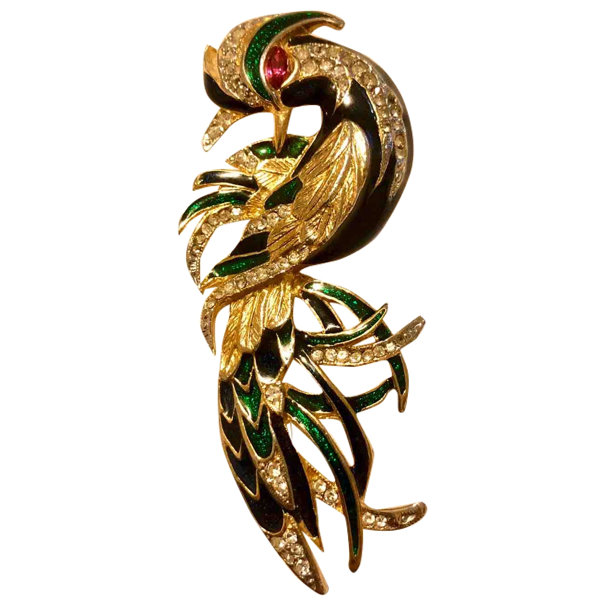 Non Signé / Unsigned Motifs Animaliers Gold Metal Pins & brooches for Women \N