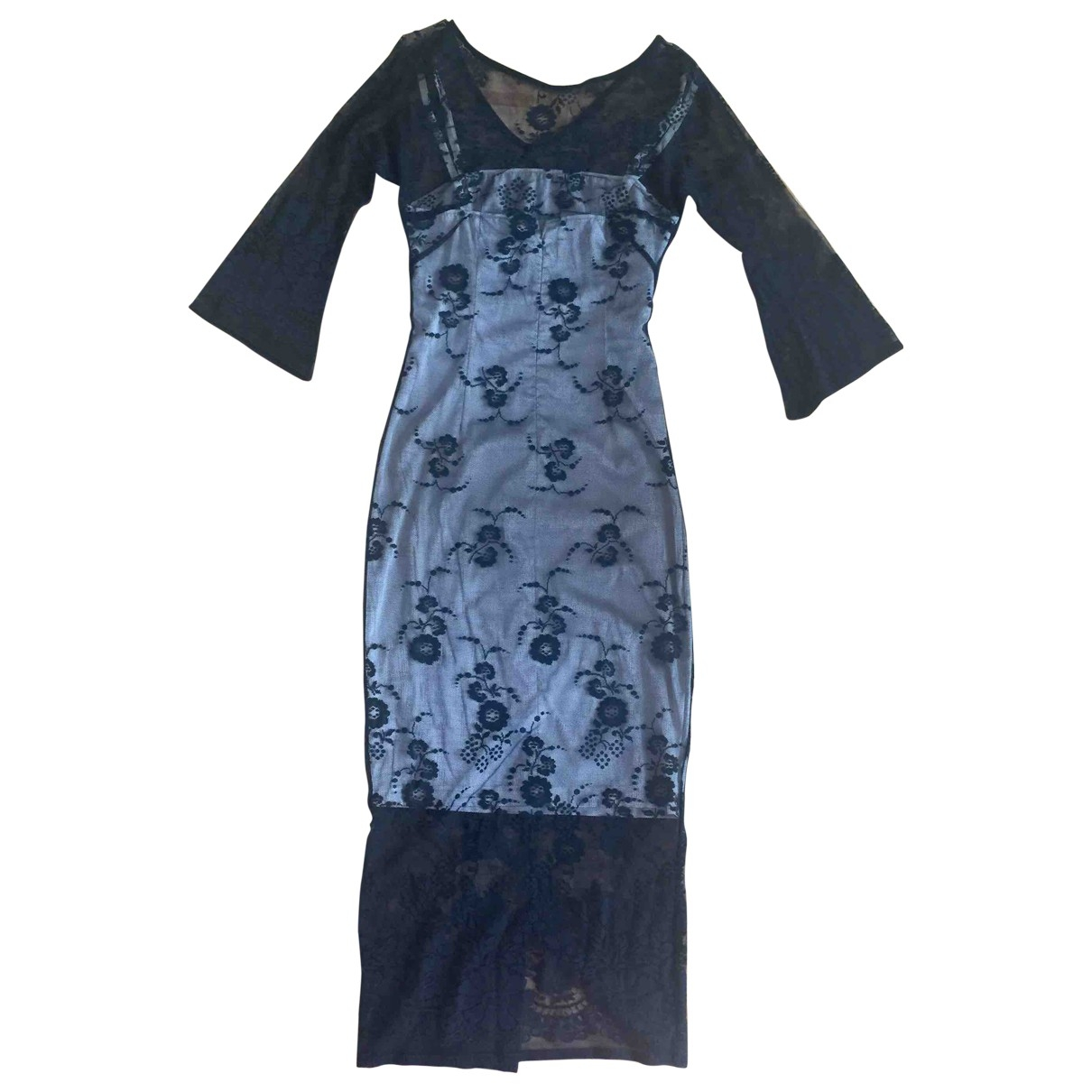 D&g \N Kleid in  Schwarz Baumwolle