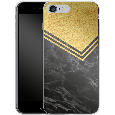 Apple iPhone 6 Plus Silikon Handyhuelle - Gold Marble von caseable Designs