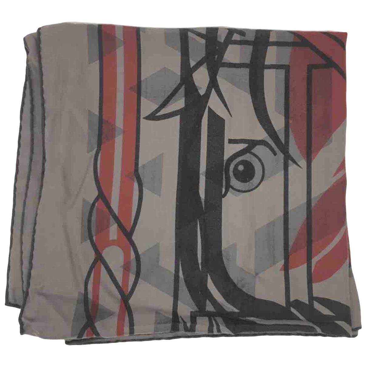 Hermès Châle 140 Grey Cashmere scarf for Women \N