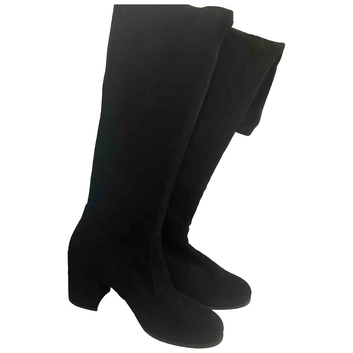 Stuart Weitzman \N Black Suede Boots for Women 38.5 EU