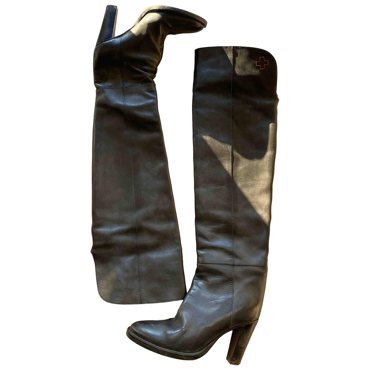 A.f.vandevorst - Bottes   pour femme en cuir - noir
