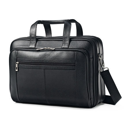 Samsonite Leather Business Case, One Size , Black