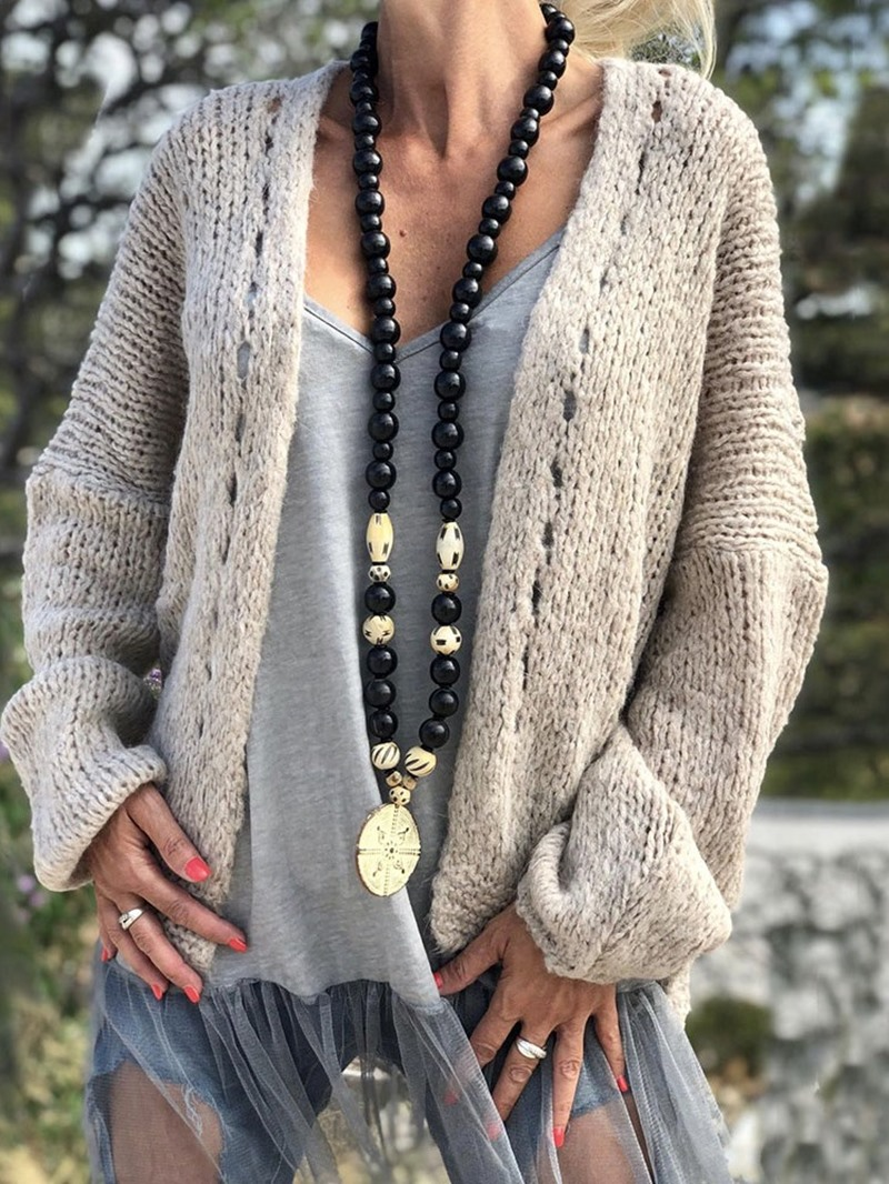 Ericdress Regular Regular Wrapped Loose Standard Sweater