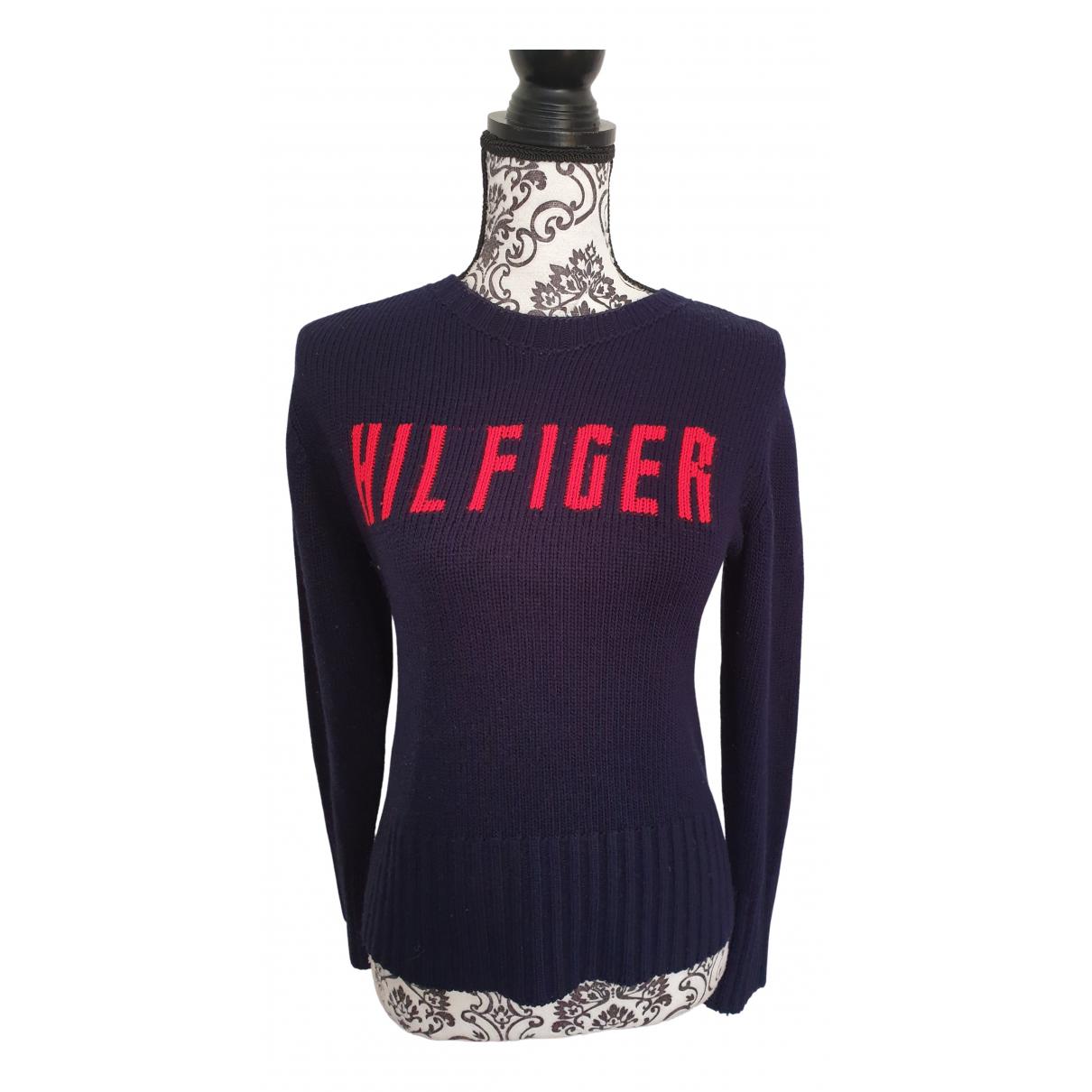 Tommy Hilfiger - Pull   pour femme en laine - bleu