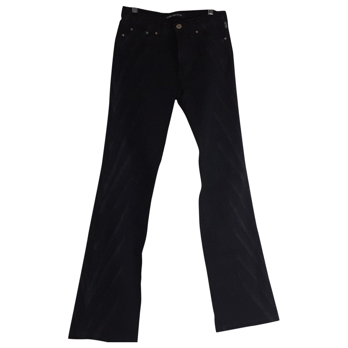 Versace Jeans \N Black Cotton Jeans for Women 41 FR