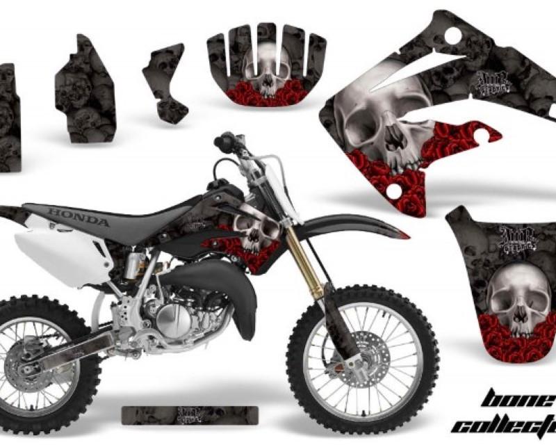 AMR Racing Dirt Bike Graphics Kit MX Decal Wrap For Honda CR85 CR 85 2003-2007 BONES BLACK