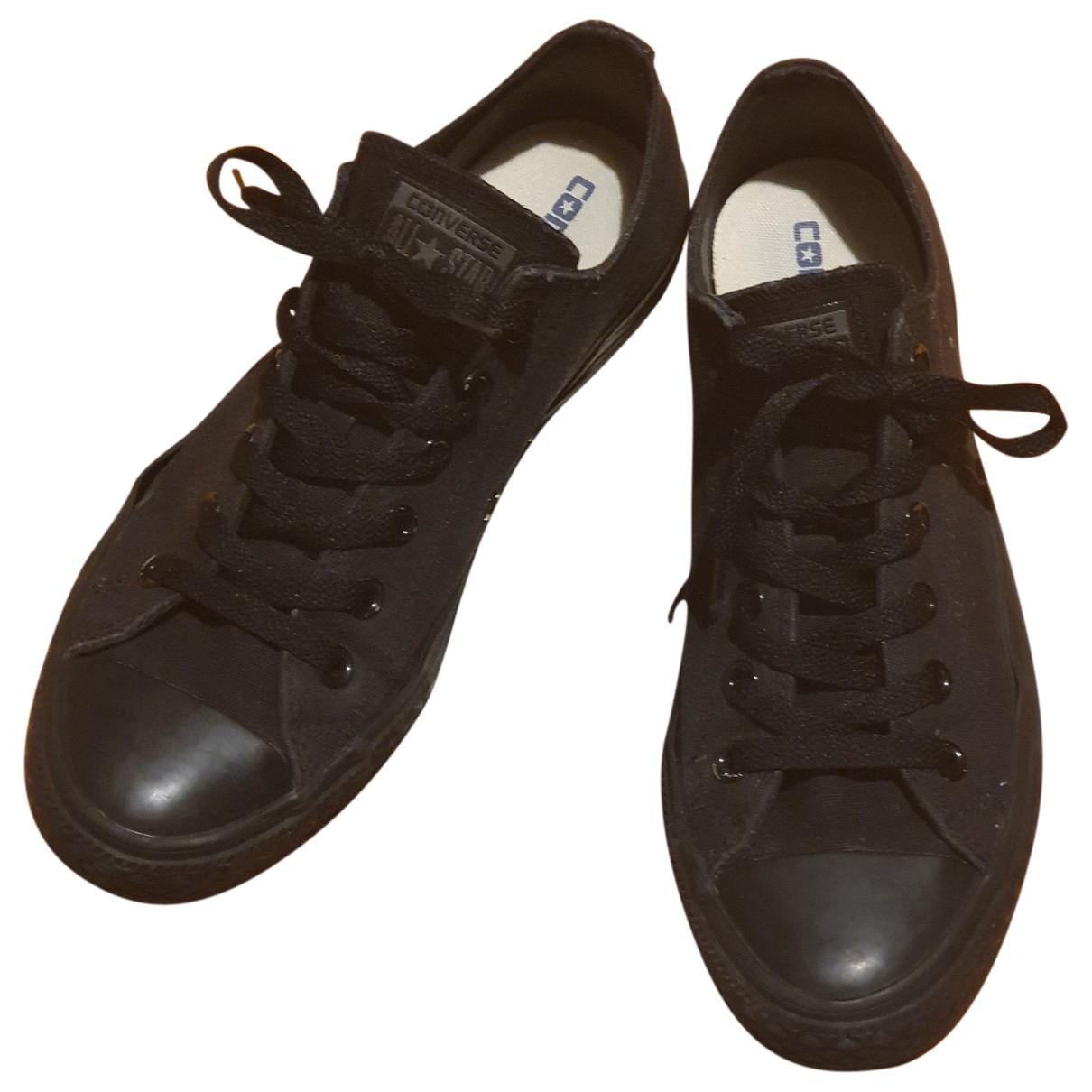 Converse N Black Cloth Trainers for Women 41 EU