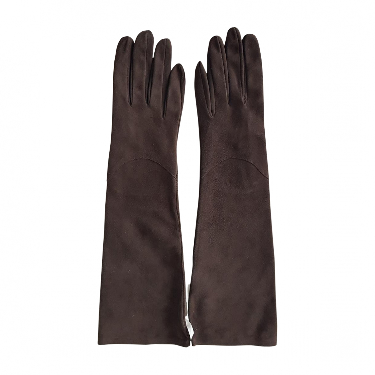 Rochas \N Brown Suede Gloves for Women XS International