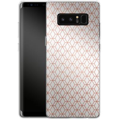 Samsung Galaxy Note 8 Silikon Handyhuelle - Morning Pattern von #basic
