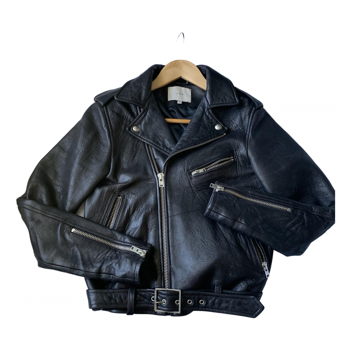 Iro \N Black Leather jacket for Women 34 FR