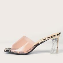 Leopard Chunky Heeled Boots