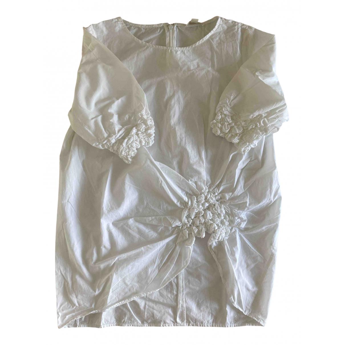Cos - Top   pour femme en coton - blanc