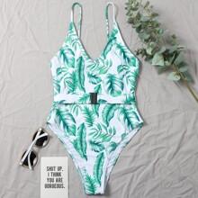Bañador una pieza tropical
