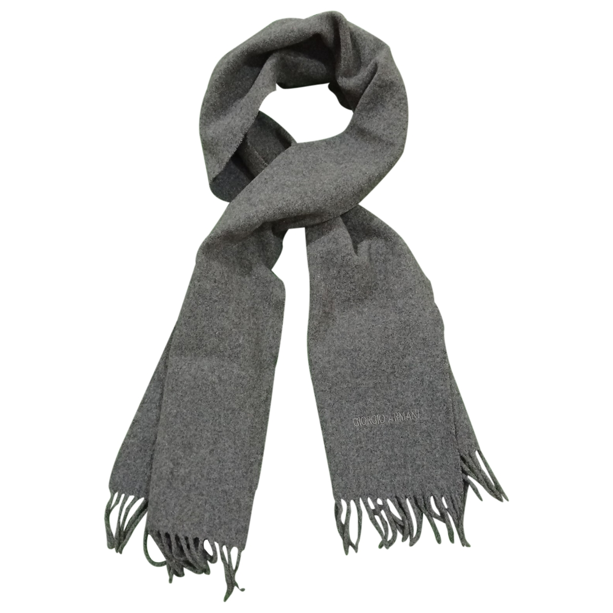 Giorgio Armani \N Grey Wool scarf & pocket squares for Men \N