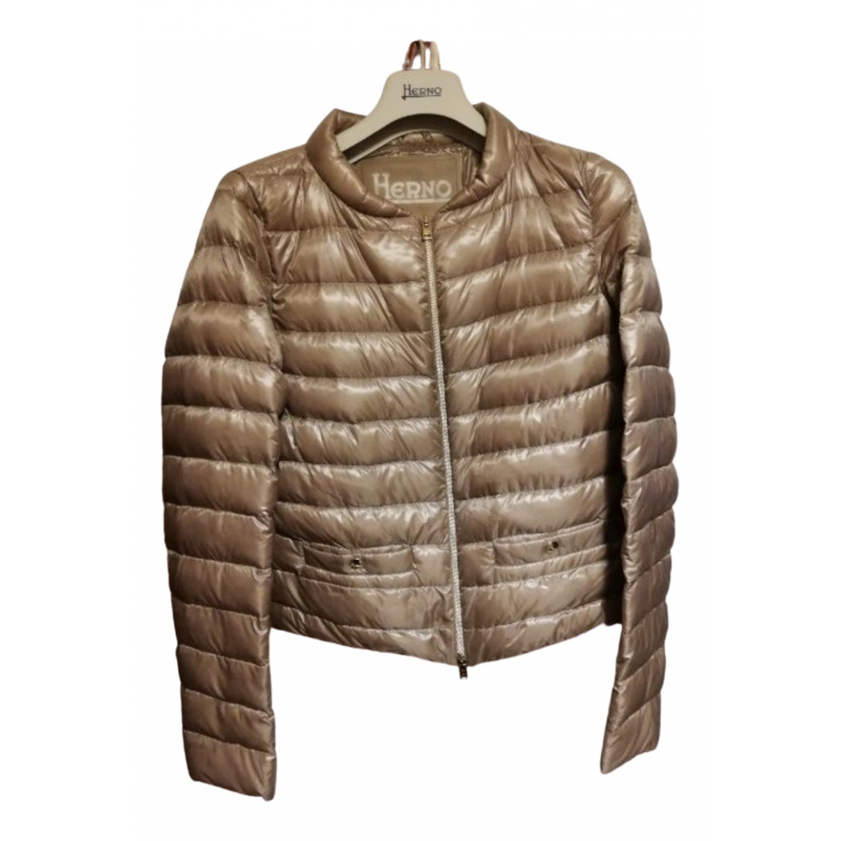 Herno N Brown jacket for Women 42 FR