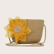 Floral Appliques Crossbody Bag