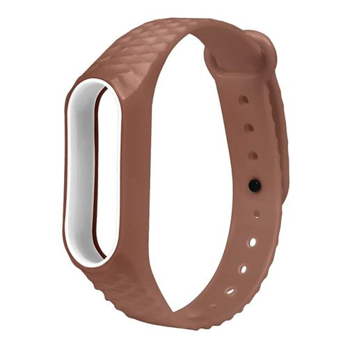 Replacement Watch Band for Xiaomi Mi Band 2 Diamond Pattern - Brown