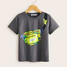 Jungen T-Shirt mit Tasche Muster