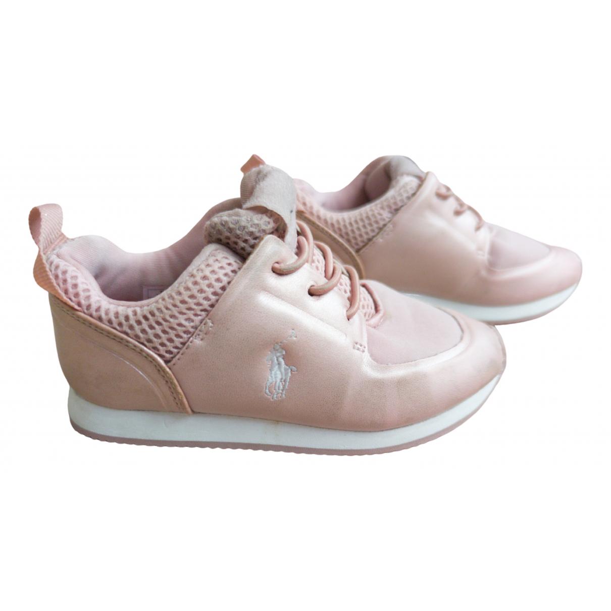 Polo Ralph Lauren - Baskets   pour enfant en cuir - rose