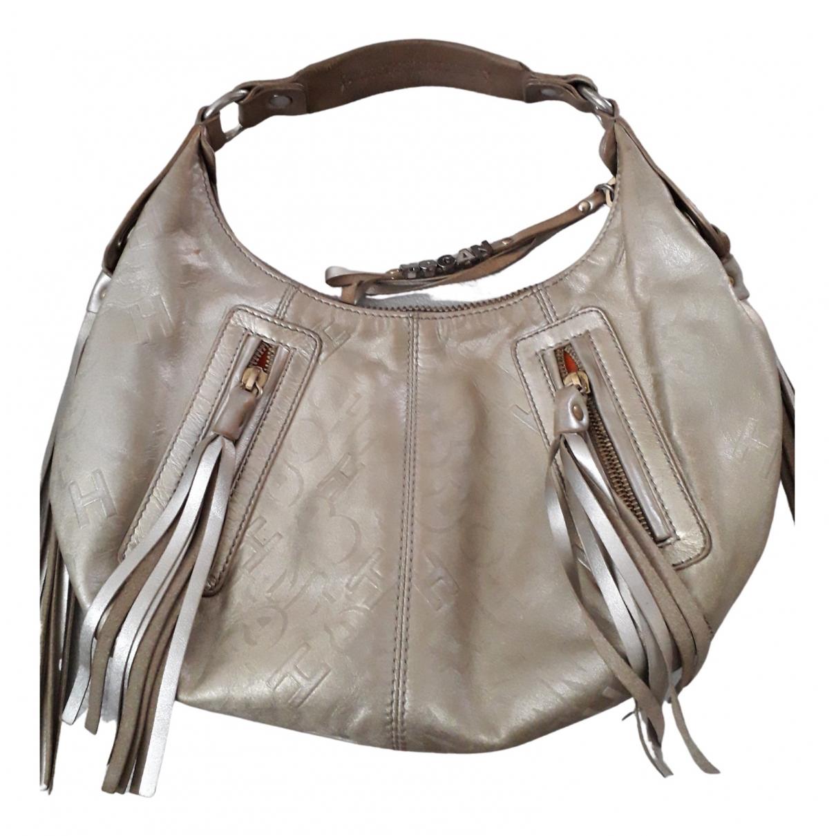 Hogan \N Gold Leather handbag for Women \N