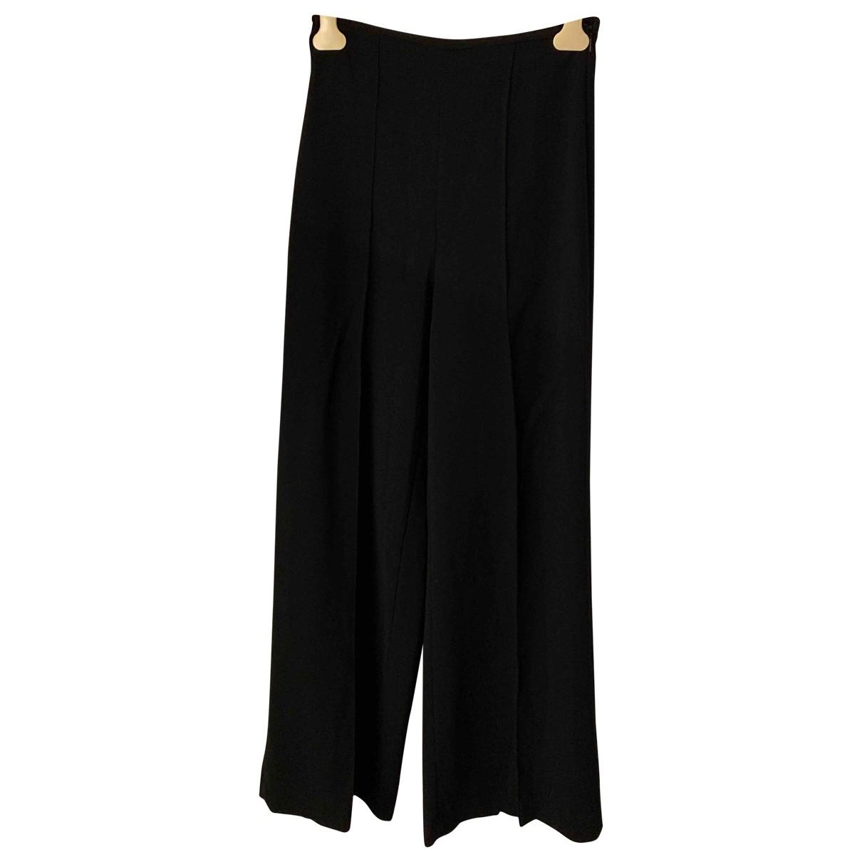 Mango \N Black Trousers for Women 38 FR