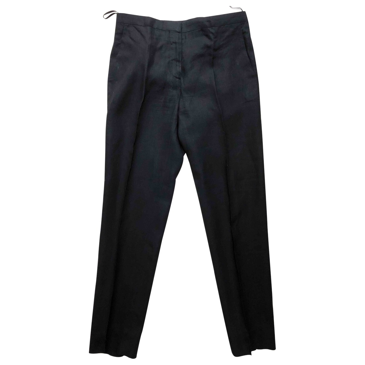 Prada - Pantalon   pour femme en lin - noir