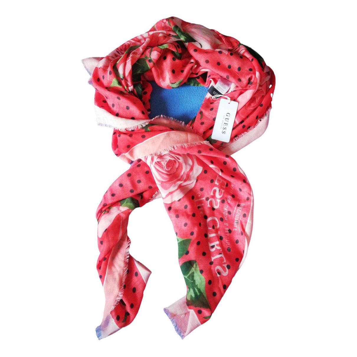 Guess - Foulard   pour femme - rose