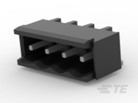 TE Connectivity , TB 5mm Pitch, 4 Way PCB Terminal Block, Black (375)