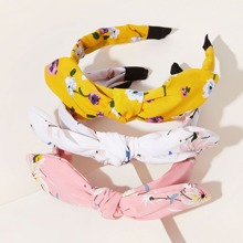 3pcs Toddler Girls Flower Pattern Hair Hoop
